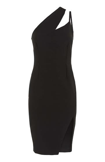 Vesper Nadia Black One Shoulder Dress