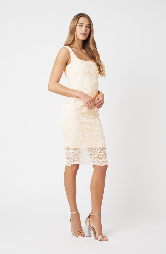 Vesper Zada Blush Lace Bodycon Dress