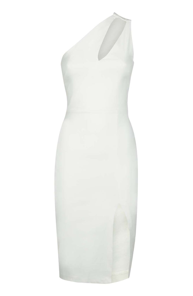Vesper Kolbie Ivory One Shoulder Pencil Dress