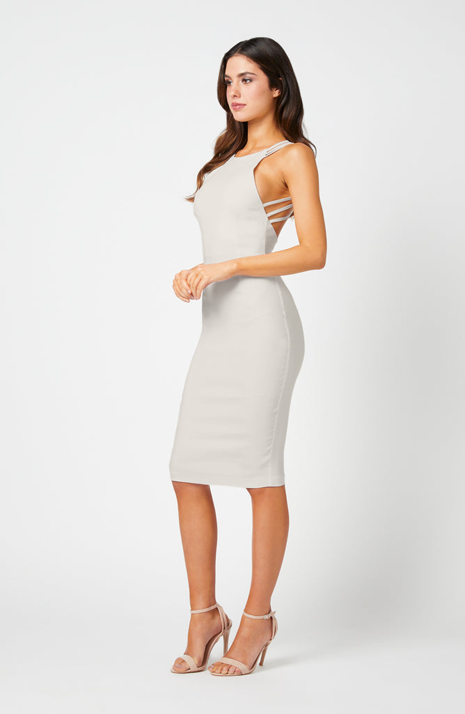 Vesper Patton Ivory Strappy Back Detail Dress