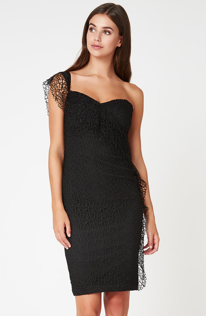 Vesper Immy Black Lace Dress