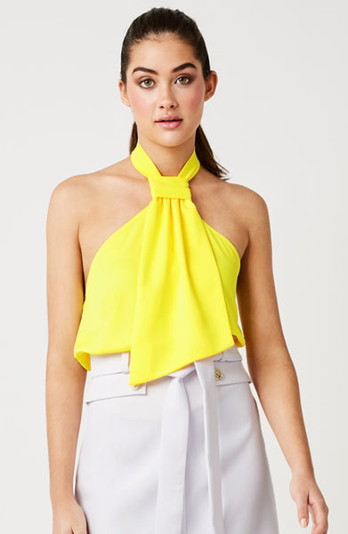 Vesper Farah Sunshine Halter Neck Top