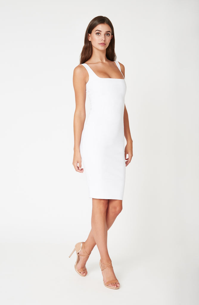Vesper Zada White Bodycon Pencil Dress
