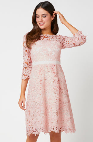 Vesper Tamsin Pink Lace Dress