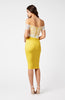 Vesper Jessie Sunshine Lace Bow Bardot Dress