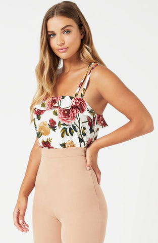 Vesper Kate Double Strap Cami Frill Top