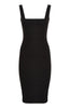Vesper Zada Black Bodycon Pencil Dress