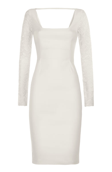 Vesper Millie Ivory Lace Sleeved Bodycon Dress