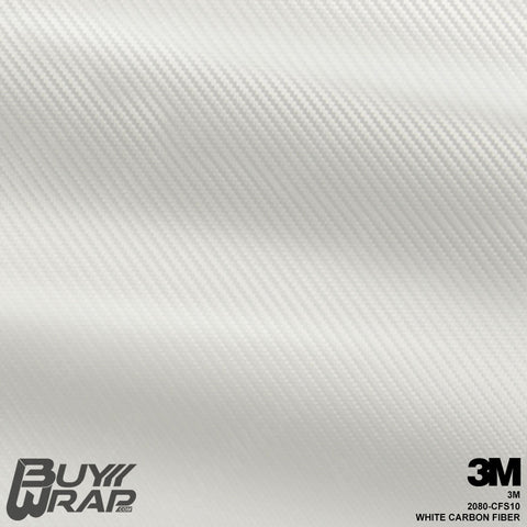 3M 2080 White Carbon Fiber Wrap | CFS10