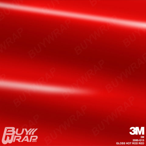 3m gloss hot rod red wrap