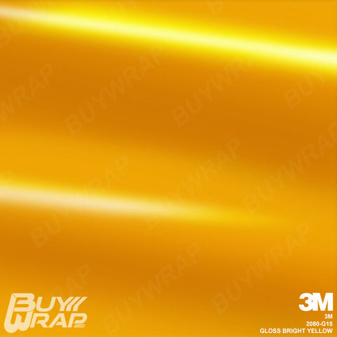 3M 2080 Gloss Bright Yellow Wrap | G15