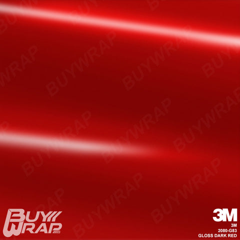 3M 2080 Gloss Dark Red Wrap | G83