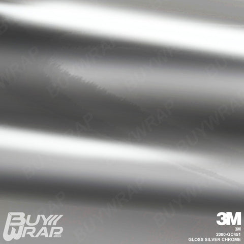 3M 2080 Gloss Silver Chrome Wrap | GC451