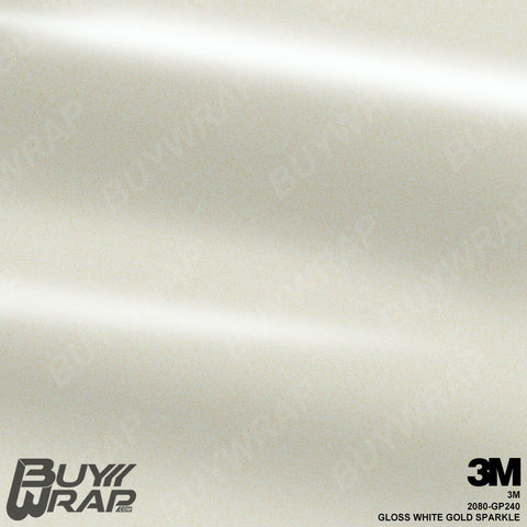 3M 2080 Gloss White Gold Sparkle Wrap | GP240