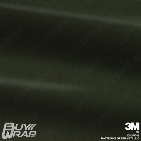 3m matte pine green metallic