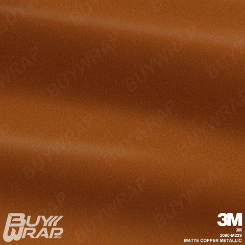 3M 2080 Matte Copper Metallic Wrap | M229