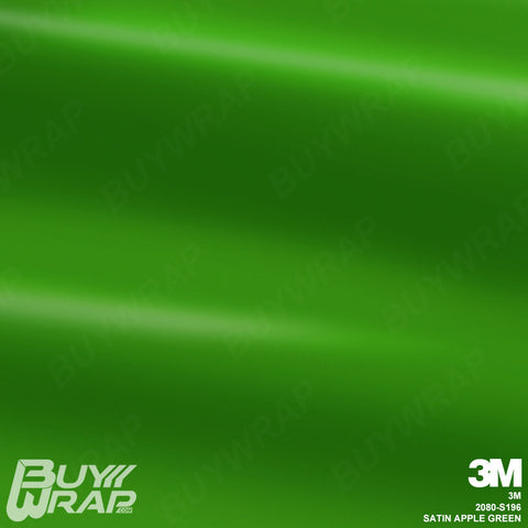 3M 2080 Satin Apple Green Wrap | S196