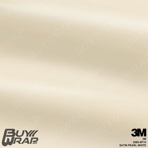 3M 2080 Satin Pearl White Wrap | SP10