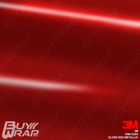 3M 1080 G203 Gloss Red Metallic car wrap vinyl film