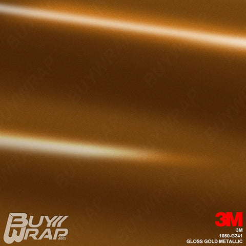 3M 1080 G241 Gloss Gold Metallic vinyl car wrap film