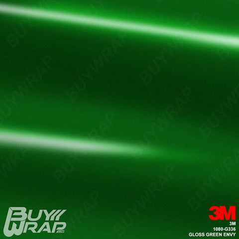 3M 1080 G336 Gloss Green Envy auto vinyl wrap film