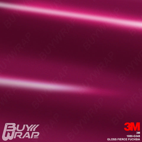 3M 1080 G348 Gloss Fierce Fuchsia auto vinyl wrap film