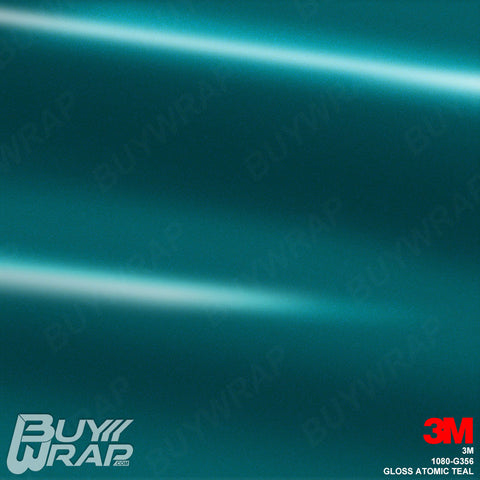 3M 1080 G356 Gloss Atomic Teal vinyl car wrap film
