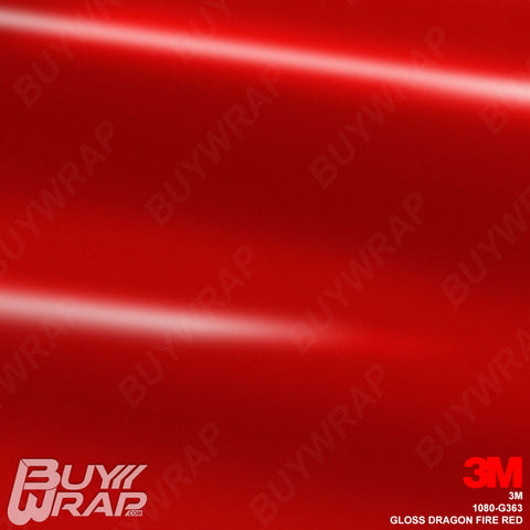 3M 1080 G363 Gloss Dragon Fire Red car vinyl wrap film