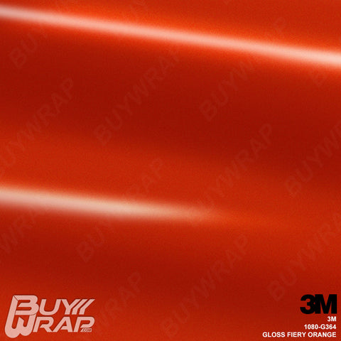 gloss fiery orange vinyl wrap
