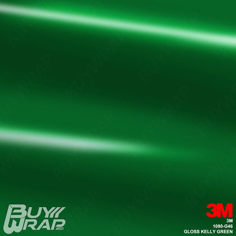 3M 1080 G46 Gloss Kelly Green vehicle vinyl wrap film