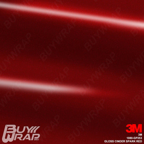 3M 1080 GP253 Gloss Cinder Spark Red vehicle wrap vinyl film