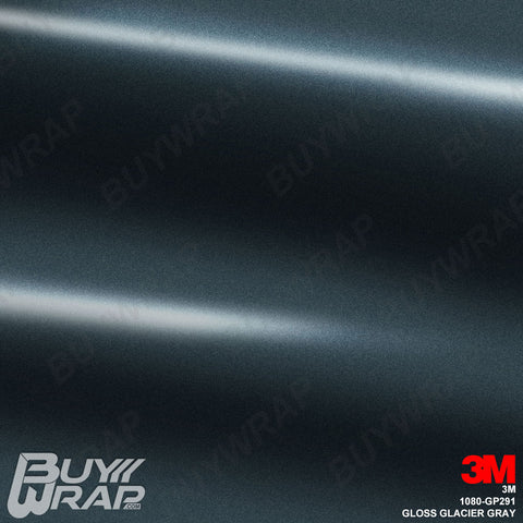 3M 1080 GP291 Gloss Glacier Gray car wrap vinyl film