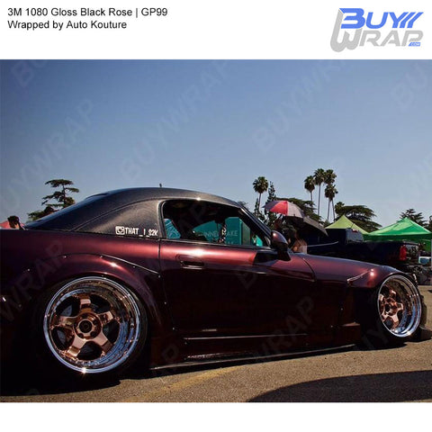 3M 2080 Gloss Black Rose Vinyl Wrap | GP99