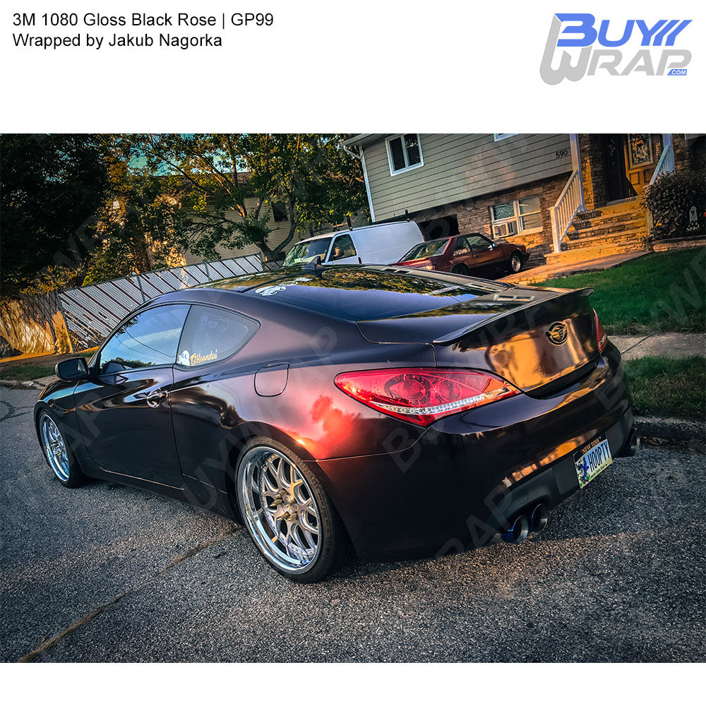 3m 1080 Gloss Black Rose Wrap Gp99 Buywrap Com