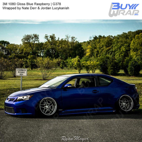 3M 1080 Gloss Blue Raspberry Vinyl Wrap | G378