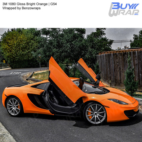3M 2080 Gloss Bright Orange Vinyl Wrap | G54