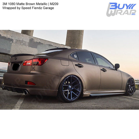 3M 2080 Matte Brown Metallic Wrap | M209