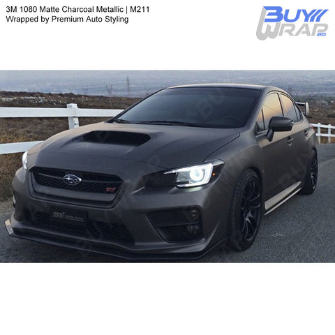 3M 2080 Matte Charcoal Metallic Vinyl Wrap | M211