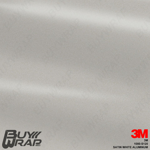 3M S120 1080 Satin White Aluminum Wrap