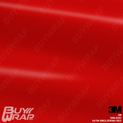3M S363 1080 Satin Smoldering Red Wrap