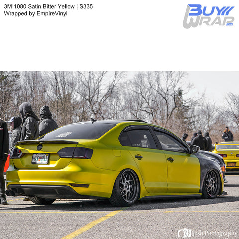 3M 1080 Satin Bitter Yellow Wrap | S335