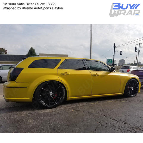 3M 2080 Satin Bitter Yellow Vinyl Wrap | S335