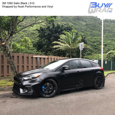 3M 2080 Satin Black Vinyl Wrap | S12
