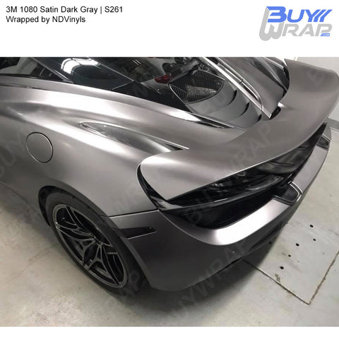 3M 2080 Satin Dark Gray Vinyl Wrap | S261