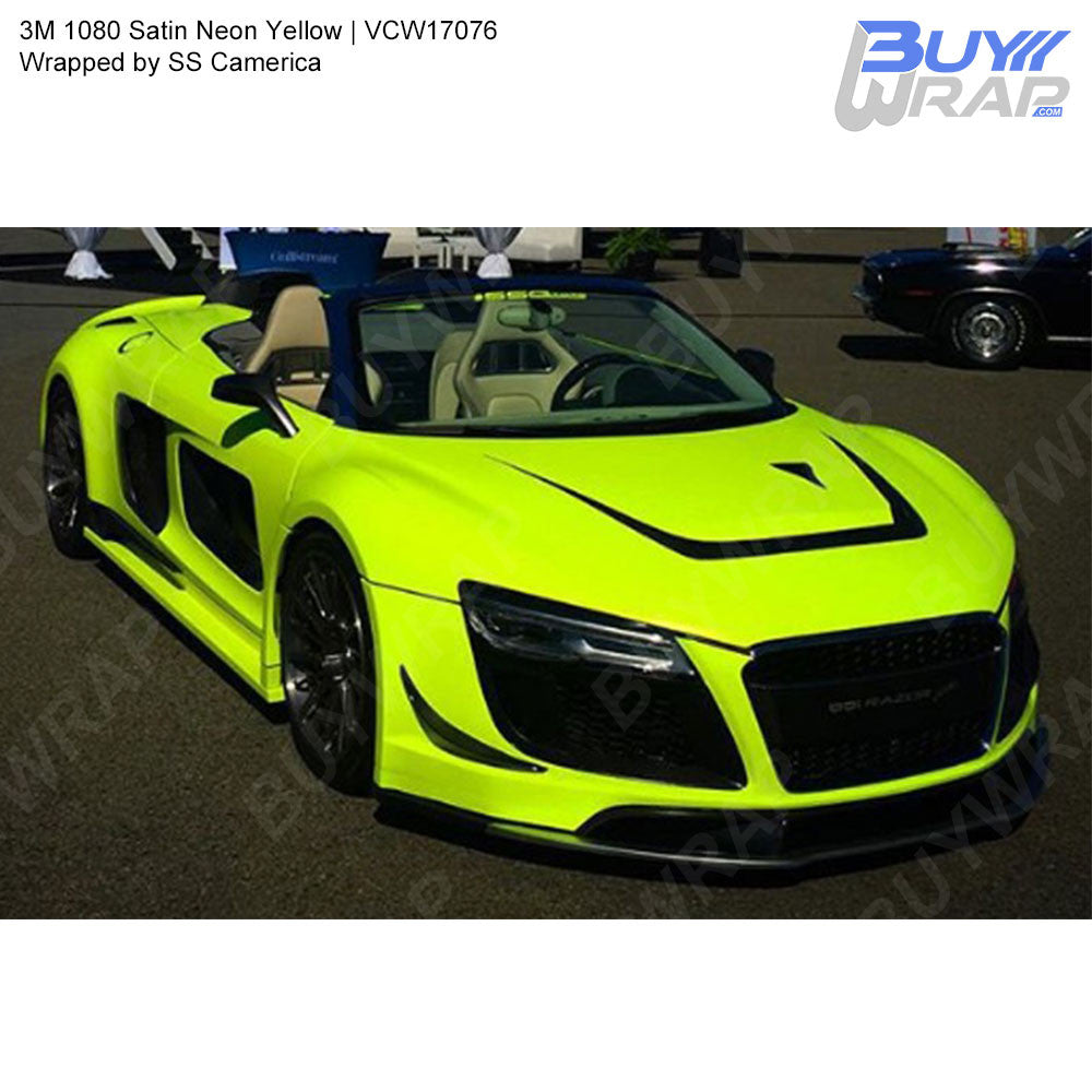 3m Satin Neon Yellow Wrap Vcw17076 Buywrap Com