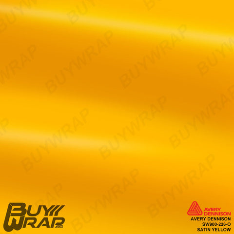 Avery Dennison SW900-226-O Satin Yellow Vinyl Vehicle Wrap Film
