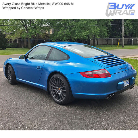 Avery SW900 Gloss Bright Blue Metallic Wrap | SW900-646-M