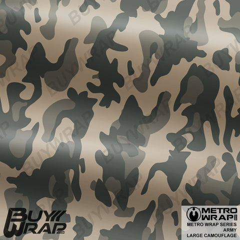 Metro Wrap Series Large Army Camouflage Vinyl Auto Wrap Film