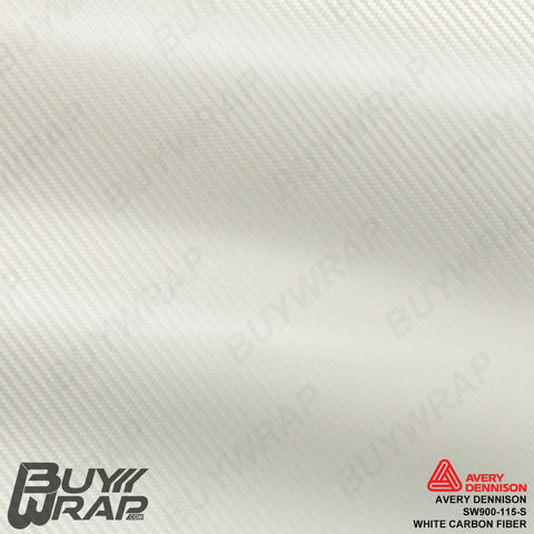 Avery SW900 White Carbon Fiber Wrap | SW900-115-X