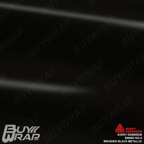 Avery Dennison SW900-193-X Brushed Black Metallic Vinyl Film Wrap
